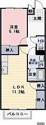 岐阜県美濃加茂市牧野の賃貸アパートの間取り