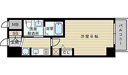 エステムコート新大阪リンクス 3階1Kの間取り