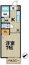 インプレス鎌倉II[105号室]の間取り