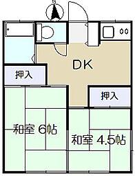 弥彦荘[202号室]の間取り