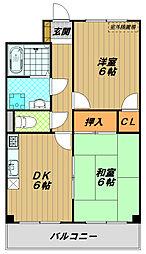 KUSABAマンション[1階]の間取り