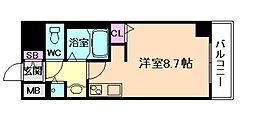 レジデンス福島II[6階]の間取り