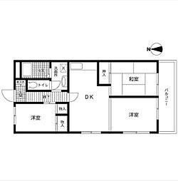 神奈川県横浜市青葉区桂台2丁目の賃貸マンションの間取り