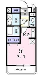 愛知県豊田市山之手1丁目の賃貸アパートの間取り