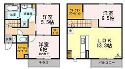 福岡市地下鉄七隈線 桜坂駅 徒歩24分の賃貸アパート 1階3LDKの間取り