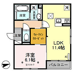 D-room ラ・ミューズ朝霞本町[103号室]の間取り
