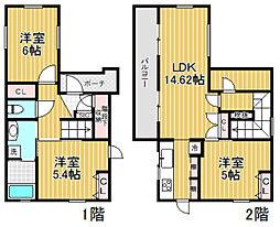 [一戸建] 東京都杉並区阿佐谷北6丁目 の賃貸【/】の間取り