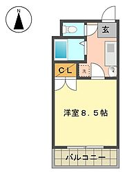 愛知県名古屋市名東区本郷2丁目の賃貸マンションの間取り