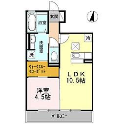 第3グレイスヨシハラ[1階]の間取り