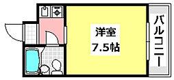 JR東海道・山陽本線 JR総持寺駅 3.6kmの賃貸マンション 2階1Kの間取り