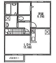 コンフォートプランドール[2階]の間取り