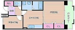 UR都島リバーシティ6号棟[6階]の間取り
