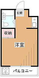 東京都小平市小川西町3の賃貸マンションの間取り