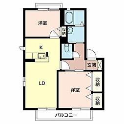 ガーデンパークB棟[2階]の間取り