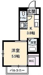 アンシャンテ新田 B棟[2階]の間取り