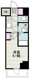 BANDOBASHI KNOTS 3階1Kの間取り