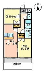 グリーンハイム松橋II[1階]の間取り