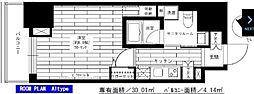 グランドコンシェルジュ六本木 7階1Kの間取り
