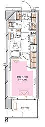 京急空港線 糀谷駅 徒歩4分の賃貸マンション 6階1Kの間取り