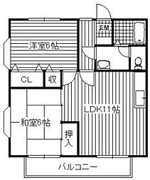 ヌーベルIWATO[1階]の間取り