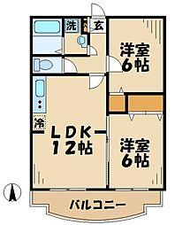 プレイン杉[3階]の間取り