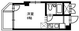 サン・ボナールMITAKA 2階ワンルームの間取り