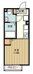 西武新宿線 上石神井駅 徒歩11分の賃貸マンション 4階1Kの間取り