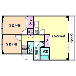 ロイヤルオクムラ[2階]の間取り