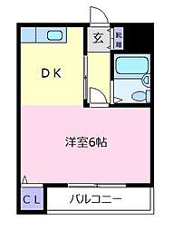 ミューゼ21[2階]の間取り