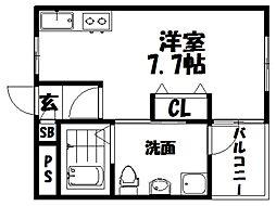 仮称)シャンテー宮之阪[1階]の間取り