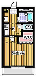 埼玉県和光市下新倉3丁目の賃貸アパートの間取り