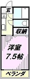 埼玉県所沢市宮本町2丁目の賃貸アパートの間取り