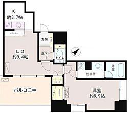 東京都港区芝浦3丁目の賃貸マンションの間取り