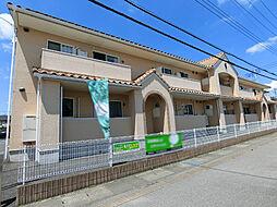栃木県さくら市上阿久津の賃貸アパートの外観
