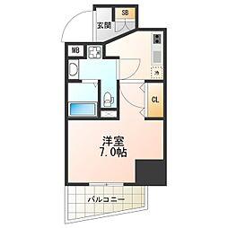 Osaka Metro谷町線 阿倍野駅 徒歩6分の賃貸マンション 8階1Kの間取り