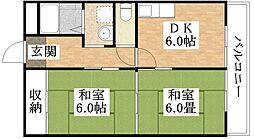 フレンズマンション[5階]の間取り