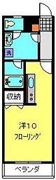 神奈川県横浜市港南区港南5丁目の賃貸アパートの間取り