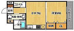 クレインタートル弐番館[208号室]の間取り