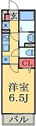 JR京葉線 検見川浜駅 徒歩11分の賃貸マンション 1階1Kの間取り