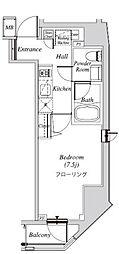 クレセント虎ノ門新橋 10階1Kの間取り