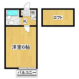 第一杉山コーポ[105号室]の間取り