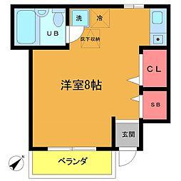 ローズアパートQ43番館[1階]の間取り