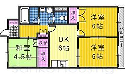 コートビレッヂ赤塚[2階]の間取り