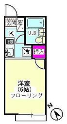 シティハイム斉藤[201号室]の間取り