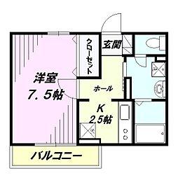 埼玉県狭山市入間川1の賃貸アパートの間取り