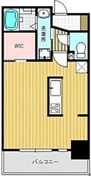 桜木-MSK 7階ワンルームの間取り