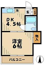 竹の家荘[201号室]の間取り