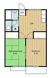 神奈川県横浜市瀬谷区相沢3の賃貸アパートの間取り