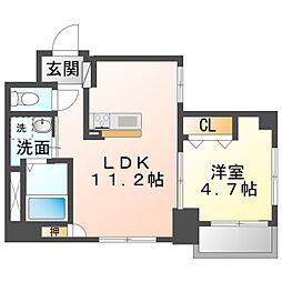 Ciel Kaya 3階1LDKの間取り
