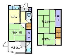 [一戸建] 大阪府松原市立部1丁目 の賃貸【/】の間取り